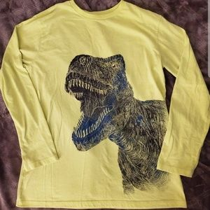 Boys neon green dinosaur long sleeve xl 14